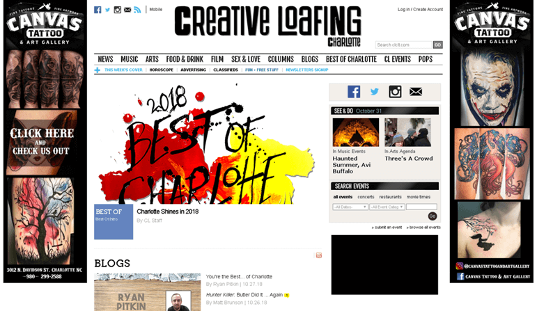 Charlotte Creative Loafing – Digital Cover