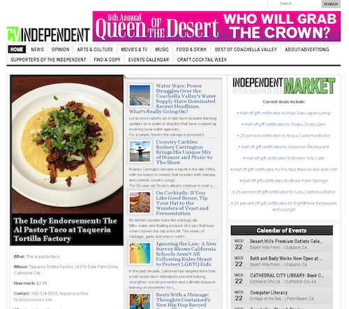 Coachella Valley Independent – Digital Cover